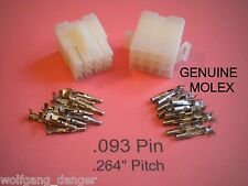 12 Pin Connector - Complete Molex Wire Conn. with Pins (.093),   w /Lock .264