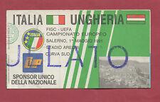Orig.Ticket   EM Qualifikation  01.05.1991   ITALIEN - UNGARN  !!  SEHR SELTEN