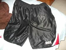 NBA SHORTS BLACK AND RED MIAMI HEAT CHICAGO BULLS COLOR SHORTS W/POCKETS NBA SZ