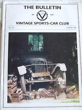 THE BULLETIN VINTAGE SPORTS-CAR CLUB SUMMER 1998 #219 POMEROY RALPH SILVA GOODWO