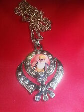 Christmas Special Silver Plated Stunning Sikh Singh Khanda with Guru Nanak Photo