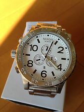 NIXON watch 51-30 CHRONO white  A083-100 A083100  NEW FREE SHIPPPING