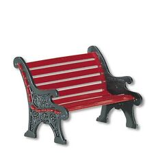 Department 56 Snow Village Red Wrought Iron Park Bench (56.56445)