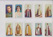 CORONATION SERIES PLAYERS CIGARETTES 1937 ISSUE  FULL SET OF 50 CARDS IN SLEEVES