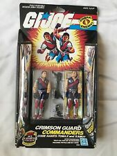 1985 GI JOE Cobra Crimson Guard Commanders Twins Tomax Xamot *Pink Scar*