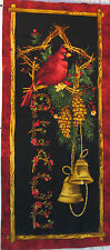 10x24 Christmas Peace Cotton Fabric Panel For Sewing Framing Wall Hanging
