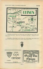 ADVERTISEMENT Vouvray Vineyard Wine Chinon MAP L Angelliaume Grand Vin Vins