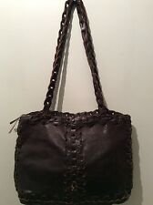 MALI PARMI real soft leather ladies brown underarm shoulder handbag