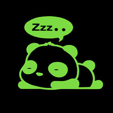 "ZZZ SLEEPING PANDA funny jdm sleeper (5"" LIME GREEN) Vinyl Decal Window Sticker"