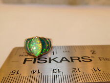 Brazillian Green Opal Ladies Art Deco Ring 6.5  NWT $300 Silver 925 FLASH!
