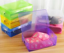 Plastic Shoe Box Stackable Foldable Colorful Storage Organizer kadies trainer