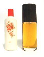 COTY WILD MUSK PERFUME COLOGNE SPRAY & SILKY BODY LOTION UB VINTAGE