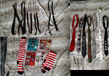 Lot suspenders ties stickers pins punk goth emo Hot topic Badtz Maru Invader Zim