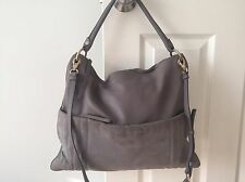 MARC by Marc Jacobs Tread Lightly Leather Hobo Bag, Cylinder Grey