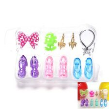 Blister toy for Barbie Doll Accessories Ring Earrings Shoes Necklace Toys LE