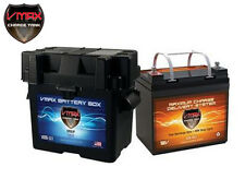CASE 12V 30Ah AGM 12 VOLT DEEP CYCLE BATTERY BC1204 3.3A CHARGER VMAX V30-800