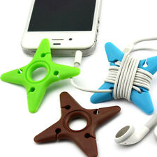 10Pcs Soft Silicone Dart Colorful Star Earphone Cable Winders Wire Holders