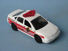 Matchbox Chevy Impala Fire Chief Rescue White Body 70mm Toy Car in BP