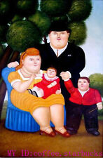 "Art Repro oil painting:""Fernando Botero Portrait at canvas"" 24x36 Inch #072"