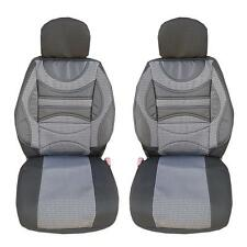1+1 PREMIUM GREY CUSHION FRONT SEAT COVERS PADDED FOR FIAT DOBLO DUCATO PUNTO 00