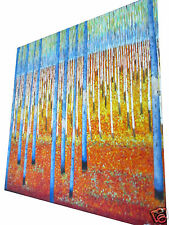 120cm by 120cm -jane crawford- bush scrub -painting- original -coa- signed