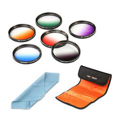 6pcs 58mm Graduated ND Verlauffilter Farbfilter Skyfilter Filter Set + Cloth