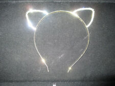 Ariana Grande Clear Crystal Cat Ear Headband, celebrity inspired