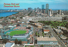 Fenway Park- Downtown Aerial View Postcard -Boston Red Sox