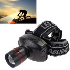 3W CREE LED Flashlight Zoomable Phare Phare tête de la torche Lampe AAA EH