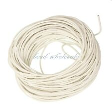 5M Real Leather String Cord Round Necklace Charms Rope For Jewelry DIY 4Sizes