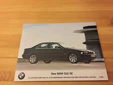 Genuine Classic Car Press Photo, BMW E39 5 Series 525i SE, 530i, 530d brochure