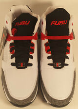 MEN'S NEW BASKETBALL SHOES BY FUBU  SIZE 11M US SHOE SIZE WHITE/BLACK/GREY/RED