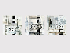 54 NEW LARGE CANVAS MULTI WALL ART NEW YORK LONDON PARIS TOWN ROOM Print picture