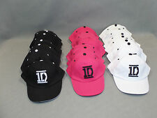 LOT DE 20 CASQUETTES ONE DIRECTION NEUVES 8 BLANCHES 6 ROSES 7 NOIRES T55-57