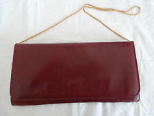 VINTAGE Oxblood Leather & Suede Evening and Clutch Bag *EXC VINTAGE CONDITION*