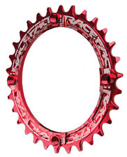 Race Face Single Narrow Wide 1x MTB Chainring - 104mm BCD 30t Red