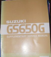 SUZUKI GS650G SUPPLEMENTARY SERVICE MANUAL   (CONTENTS LISTED)  SR.700E-01
