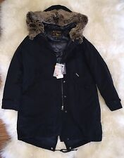 JCREW Woolrich John Rich & Bros Literary Parka Hooded M Dark Navy $795 SOLDOUT!