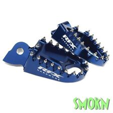 RFX CNC BLUE ANODISED FOOT RESTS PEGS HUSQVARNA FC FE TC TE 125 250 300 350 450