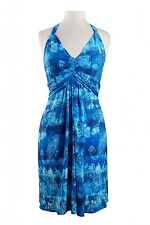 MUSE $159 Sexy Tie Dye Halter Packable Travel Tropical Jersey Knit Dress NWT 12