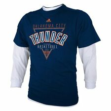 ($38) ADIDAS Oklahoma City Thunder nba Jersey Tee T-Shirt YOUTH KIDS BOYS m