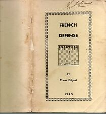 CHESS DIGEST KEN SMITH FRENCH DEFENSE FIRST EDITION PAPERBACK 1973