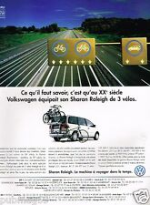 Publicité advertising 1996 VW Volkswagen Sharan Raleigh
