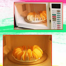 DIY Low Calorie Microwave Oven Potato Apple Chip Maker Rack Set for Home Kitchen
