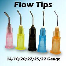 100 pcs 14 Gauge Pre Bent Needle Flow Tips Dispensing Irrigation Syringe