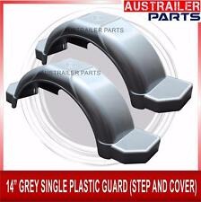 "2 X  14"" GREY SINGLE PLASTIC GUARD WITH STEPS AND COVER"