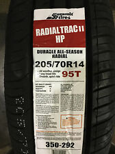 4 New 205 70 14 Summit Radial Trac II HP Tires