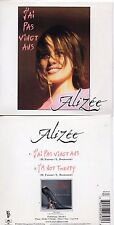 RARE CD Single ALIZEE I'm not twenty + RARE + Mylene FARMER 2-track CARD SLEEVE