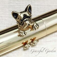 CR2135 Graceful Garden Vintage Style Antique Gold Tone French Bulldog Ring 6