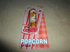 Full Size Tube Of .12 Oz. Popcorn Flavored Lip Balm By Lotta Luv, NEW IN PACKAGE